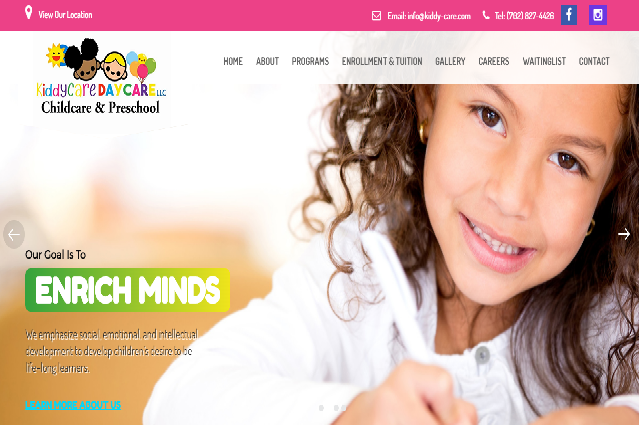 Kiddy Care Daycare Website Launch:  We Provide Daycare Childcare Web Design Services